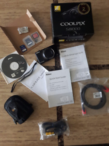 Nikon CoolPix S8000 14.2mp digital camera + extras- Mint in box!
