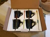 Pack of 4 coffee mugs