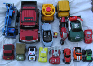 Toy cars LOT OF 17 Hummer Motorbike Crane CARS++ sound effects