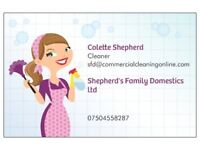 Shepherd's Family Domestics LTD Professional family run cleaning company