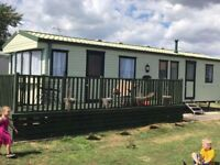GREAT OFFERS FOR SEPTEMBER AND OCT 3 bed 8 birth caravan to rent at hutleys near Clacton on sea