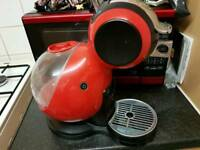 Red nescafe dolce gusto coffee machine