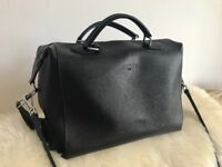 Beautiful leather black bag By Irene Van Ryb Paris in mint condition