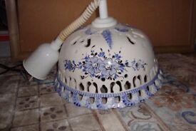 Beautiful ceramic hand painted light fitting