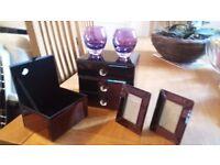 Beautiful purple jewellry case with accessories