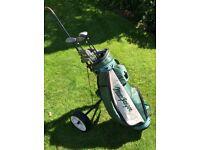 MacGregor Golf Set (left handed), Bag & Trolley