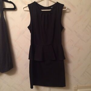 Black H and M dress size 8