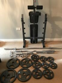 Weights Bodymax 100kg Olympic weights set & Bench
