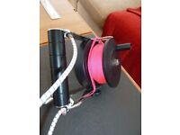 Custom Divers pocket ratchet reel 70m pink