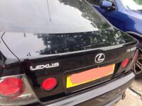 Lexus is200 black 2o2 boot tailgate complete 98-05 breaking spares is 200 is300