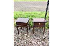 Upcycle pair of stag Minstrel bedside tables * free furniture delivery*