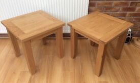 Pair Of Oak Lamp Tables, New & Boxed