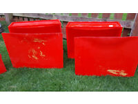 Ikea Trones shoe storage - red