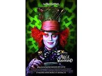 Giant Movie Posters (Alice in Wonderland)