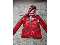 Next red rain proof jacket 8