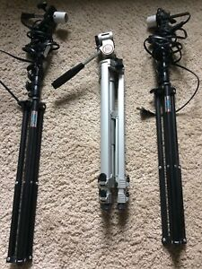 Tripod and 2 lighting stands