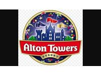 2x Alton Towers tickets + fast track to 1 ride of choice