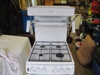 Imaculate free standing Gas Cooker, by New World, has an eye level grill.