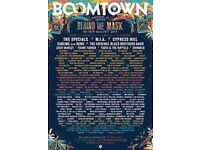 Boomtown 2017 full weekend camping ticket
