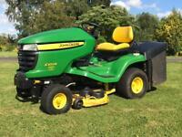 John Deere X300r 42inch ride on lawnmower / mower less than 200 hours