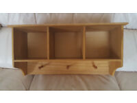 Pine colour Nursery or Dolls shelf 23inch x 11inch