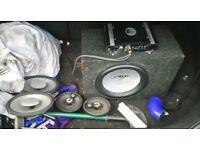 Amp sub and speakers
