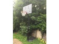 Adjustable (8ft-10ft) free standing basketball back board stand and hoop