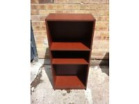 Dark wood book shelf