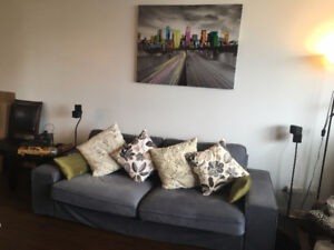 Misc furniture Negotiable couch tv mirror ac