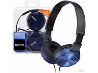 Sony ZX310 on- ear Headphones- blue *unused, immaculate condition* EMAIL ANY OFFERS