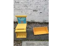 Tractor toy box and shelf
