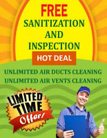 Duct Cleaning & Unlimited Vents Cleaning With Free Sanirization