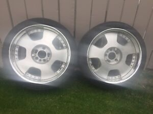 Pair of Ssr wheels 4x11.4/5x11.4