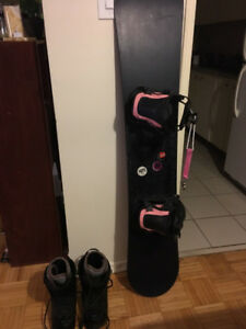 Women's Snowboard and Boots