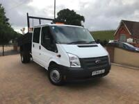 2014 64 Reg Ford Transit Tipper Double Cab