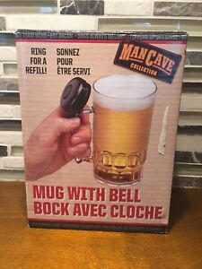 Man Cave BEER MUG with Bell - Gag Novelty Gift