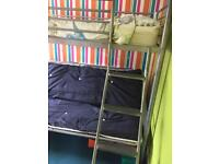 Bunk bed with double futon