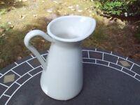 Large white catering jug - metal