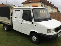 LDV flatbed truck with crew cab