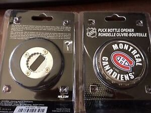 Canadiens puck bottle opener