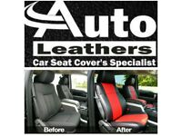 LEATHER CAR SEATCOVERS TOYOTA PRIUS FORD GALAXY VOLKSWAGEN SHARAN SHARON VW PASSAT PCO/ PRIVATE HIRE