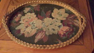 3 Vintage Large Wood Tray's -  $20.00 for all