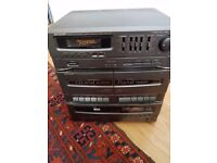 Sharp Radio CD synthesizer Double tape cassette player