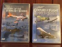 COLLECTION OF DVDs Including FLIGHT/RAF/SPITFIRE/CONCORDE/F16/BRITISH JETS and more