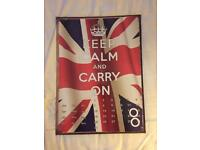KEEP CALM AND CARRY ON CALENDAR METAL POSTER WALL DECORATION UNION JACK BRITAIN BRITISH
