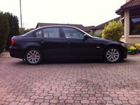 BMW 320D SE, 2006, MOT, FSH, 88500 miles, Black with cream leather.