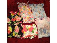Size 5-6 ted baker dress/shorts, frozen tops and tinker bell dress