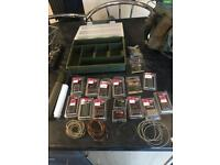 Tackle box full of carp fishing tackle and bag