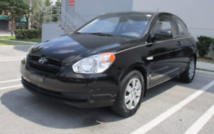 BLACK 2009 HYUNDAI ACCENT AUTOMATIC HATCHBACK WITH LOW KM'S!!!!!