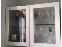 Wall cabinets with glass door - white - IKEA